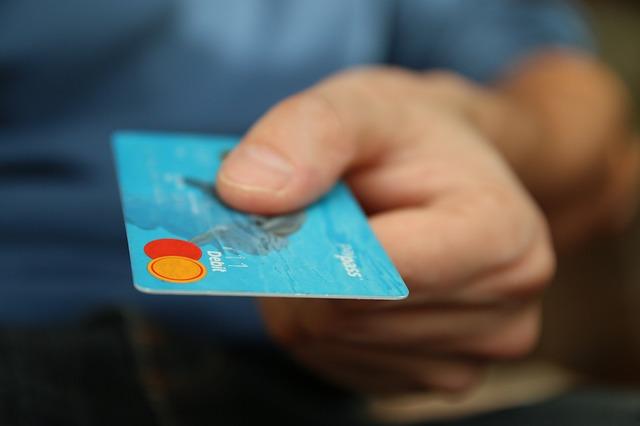 modrá kreditka